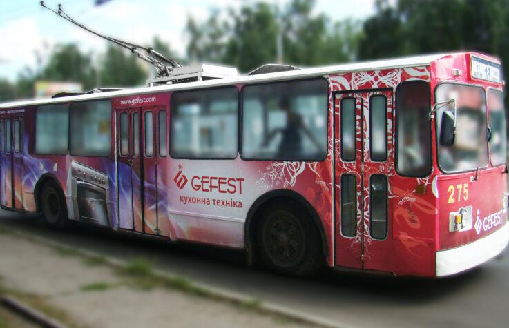 Брендирование общественного транспорта