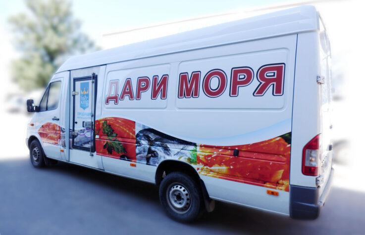Брендирование корпоративного транспорта для сети магазинов
