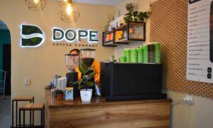 Крутой интерьерный логотип для кофейни