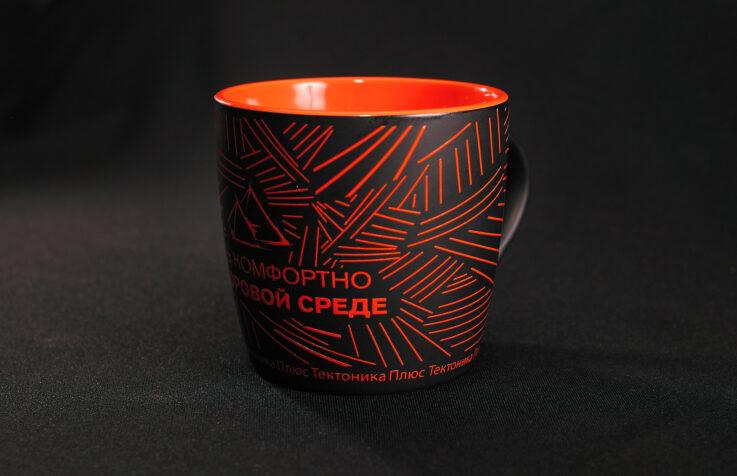 Кружка керамическая цветная с брендированием