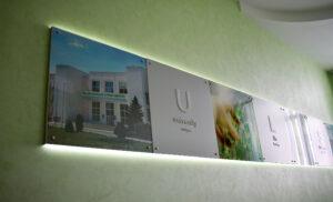 Стенд с подсветкой для национального аграрного университета