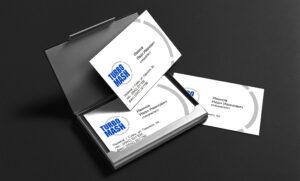 Личные визитки для научно-производственной компании