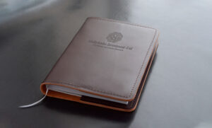 Брендированный ежедневник для компании в области инвестиций и ценных бумаг