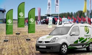 Брендированнае корпоративное авто для аграрной компании