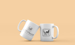 Брендированные чашки для мебельного магазина