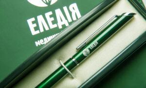 Металлические ручки с гравировкой для медицинского центра