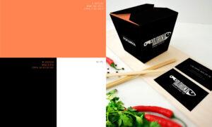 Фирменные цвета доставки суши из под ножа