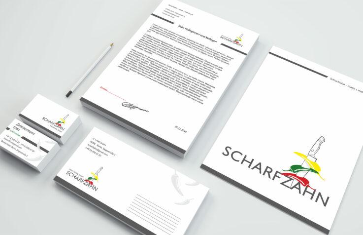 Разработка логотипа и фирменного стиля для «Scharfzahn»